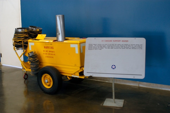 DAYTON, Ohio -- H-1 Ground Support Heater on display at the National Museum of the United States Air Force. (U.S. Air Force photo)