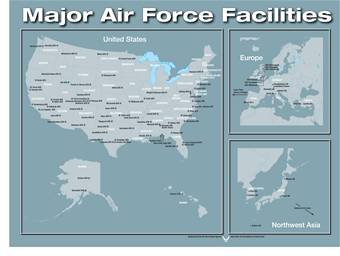 Art - Map of air force bases in us