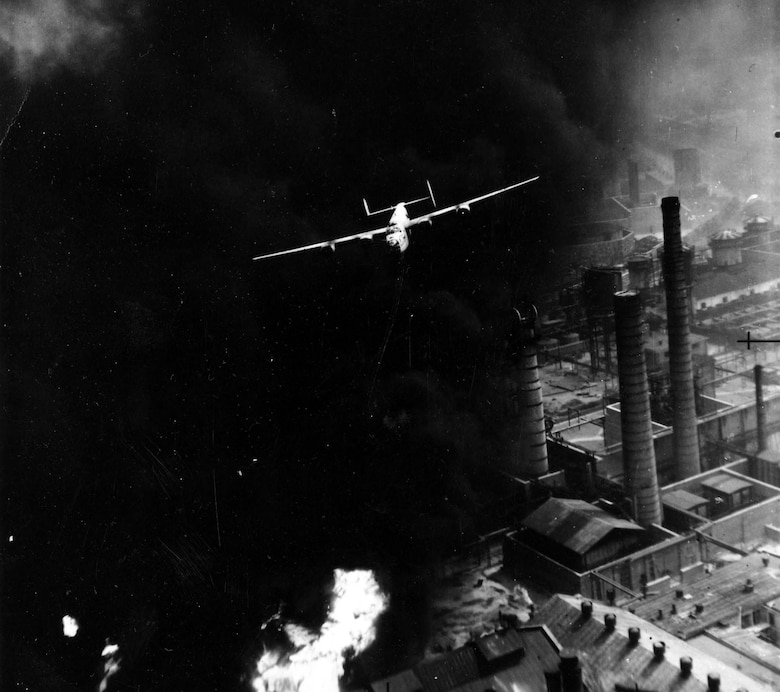Ploesti oil refinery bombing mission. (U.S. Air Force photo)