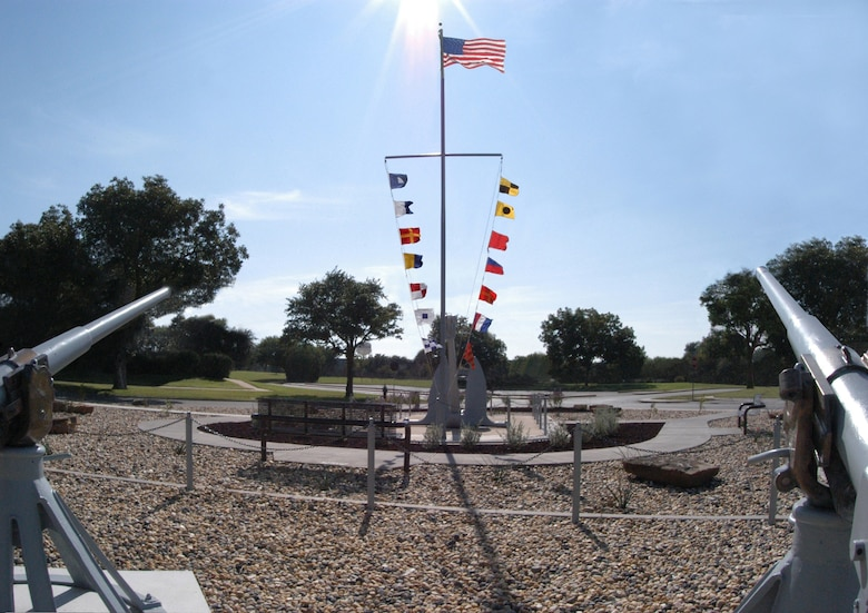 Liberty Park, Goodfellow Air Force Base, Texas, is dedicated to the honor and memory of the 34 brave American Sailors who gave their lives in June 1967 defending the American Intelligence vessel, USS Liberty. (Courtesy photo)