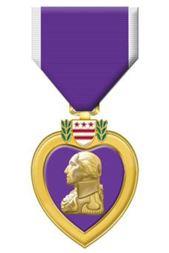 Purple Heart.  Illustrated by Virginia Reyes of the Air Force News Agency. This image is 4x8 inches @ 200 ppi.  The original Purple Heart, designated as the Badge of Military Merit, was established by Gen. George Washington by order from his headquarters at Newburgh, N. Y., Aug. 7, 1782.  Records indicate that the Purple Heart was awarded only three times during the Revolutionary War and was not awarded again until it was revived on Washington's 200th birthday, Feb. 22, 1932.  Use of the Purple Heart for meritorious service was discontinued on Dec. 3, 1942 when the Legion of Merit was created.