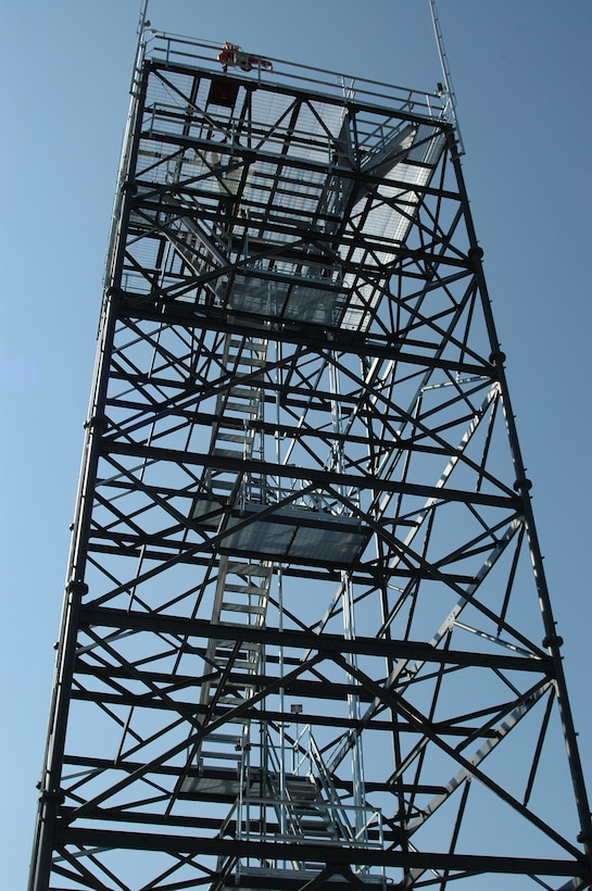 A new 77-foot radar tower has been built for the 729th Air Control Squadron to enhance their combat and work capabilities.