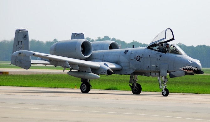 Lt. Col. Sam Milam taxies an A-10C Thunderbolt II to its new home Aug. 7 at Moody Air Force Base, Ga. This aircraft is the first of approximately 50 upgraded A-10Cs moving to Moody AFB as a part of a base realignment. The move is expected to be complete in early spring 2008 as aircraft are converted from A-10A to A-10C models. Colonel Milam is the 75th Fighter Squadron commander. (U.S. Air Force photo/Tech. Sgt. Parker Gyokeres)