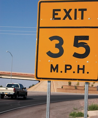 "Although the road leading into Holloman Air Force Base is referred to by some as the, ""Holloman 500,"" motorists should proceed into base in a law-abiding and safe fashion."