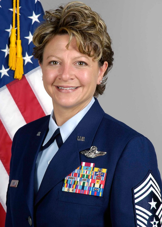 507th Air Refueling Wing Command Chief Master Sgt. Tina Long