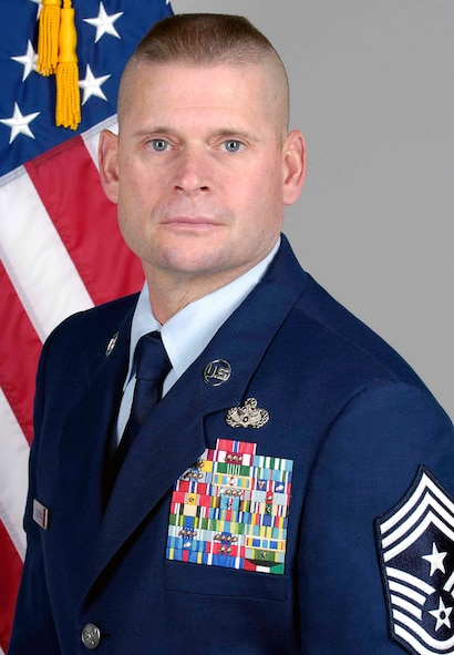 72nd Air Base Wing Command Chief Master Sgt. Phil Cherry