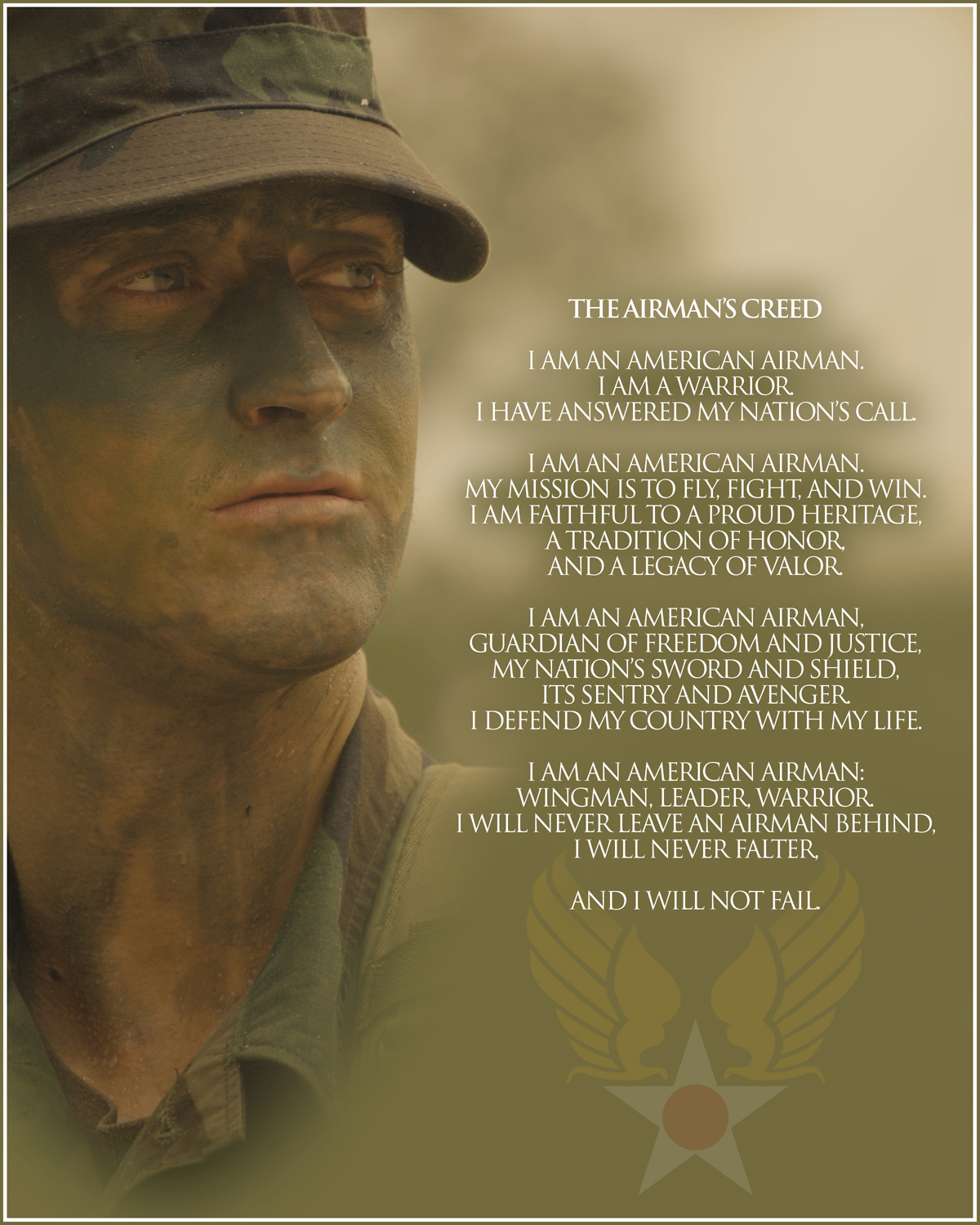 United States Air Force The Airman/'s Creed 2012 Poster