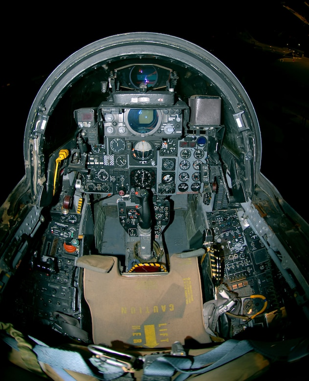 DAYTON, Ohio -- McDonnell Douglas F-4G Wild Weasel cockpit at the National Museum of the United States Air Force. (U.S. Air Force photo)