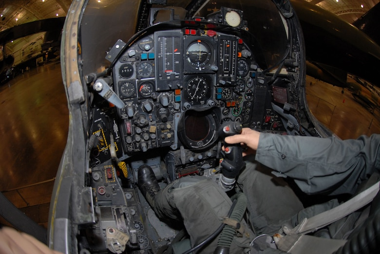 DAYTON, Ohio - Republic F-105G cockpit at the National Museum of the U.S. Air Force. (U.S. Air Force photo)
