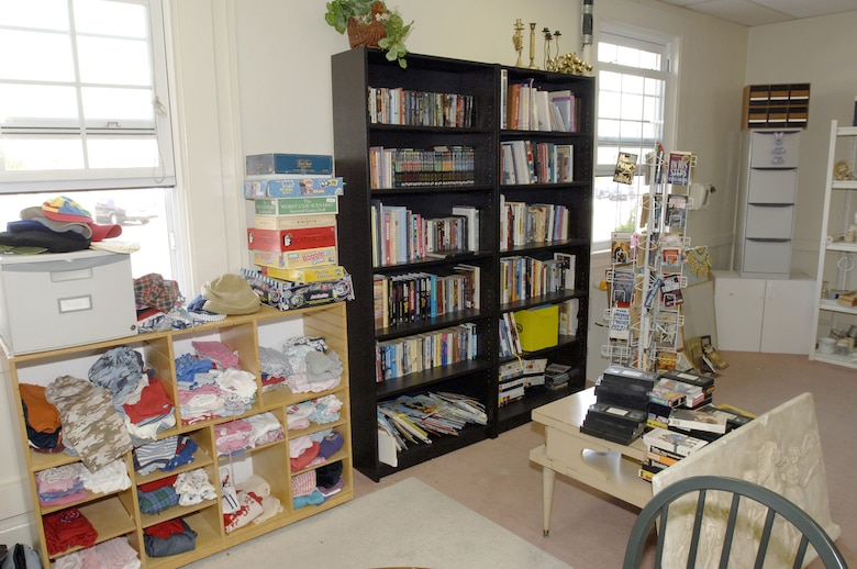 Books, games, used videos, clothing and other items are at the Airman's Attic. (Photo by Lou Hernandez)