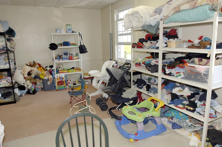 Baby clothes and other items are available at the Airman's Attic. (Photo by Lou Hernandez)