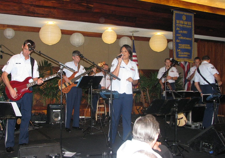 Hana Hou, the U.S. Air Force Band of the Pacific performed during the Heroes luncheon.