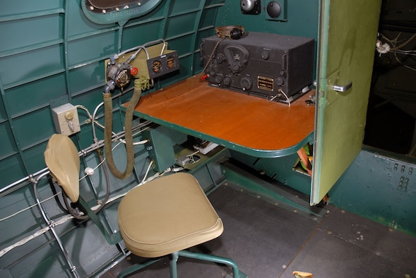 """DAYTON, Ohio -- Interior of the Boeing B-17G """"Shoo Shoo Shoo Baby"""" at the National Museum of the United States Air Force. (U.S. Air Force photo)"""