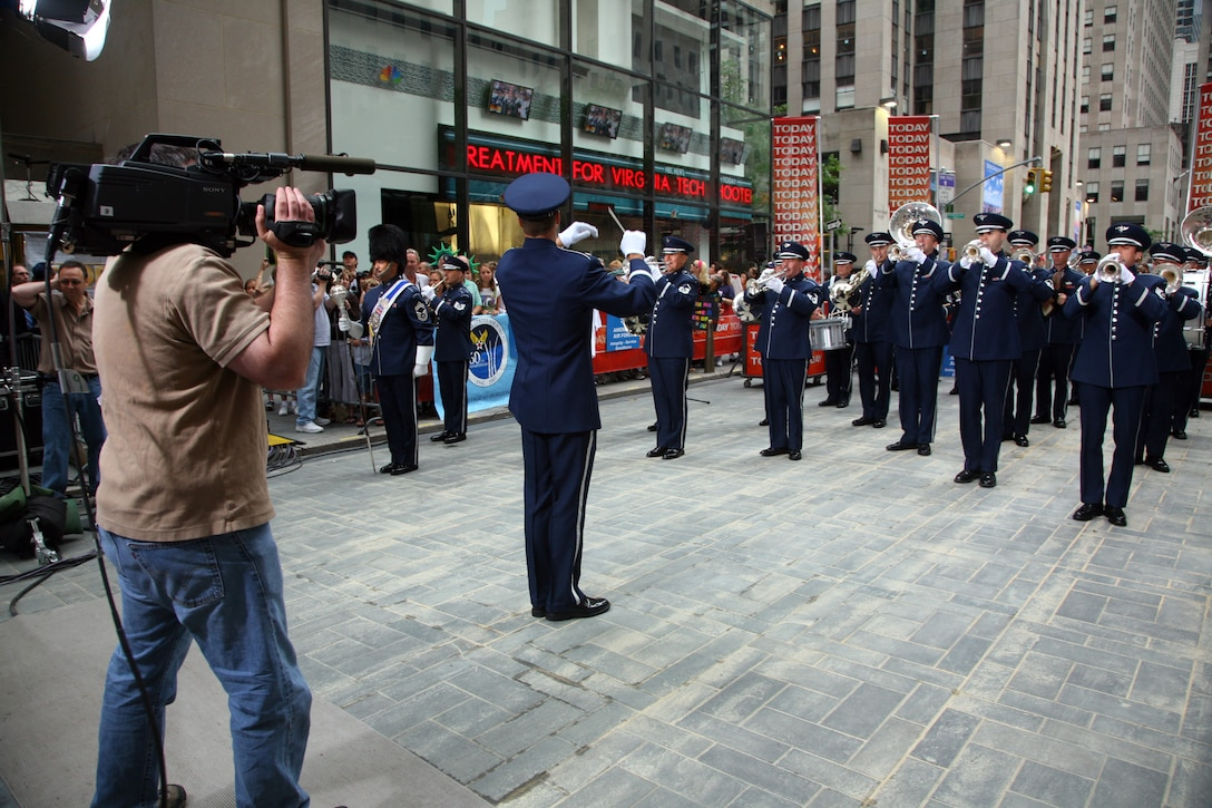 The United States Air Force Band's Ceremonial Brass perform on the NBC Today Show on July 4, 2007.  (U.S. Air Force photo by SMSgt Robert Mesite)