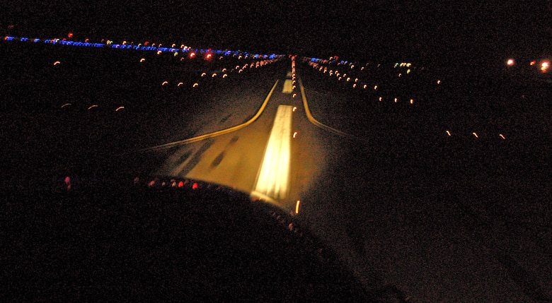 Christmas Runway Lights.On Dasher On Dancer On Dover Flights Offer Santa S Eye