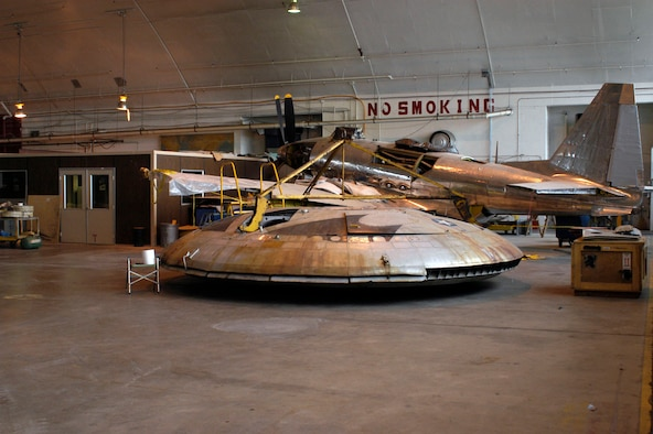DAYTON, Ohio (11/2007) -- Avrocar in the restoration hangar at the National Museum of the United States Air Force. (U.S. Air Force photo)