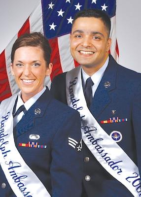 2008 Randolph Ambassadors  Senior Airmen Jennifer Booth and Vikas Kumar