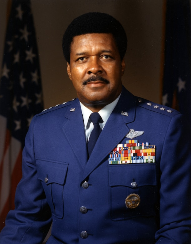 """Gen. Daniel R. """"Chappie"""" James Jr. (1920-1978), a Tuskegee Airmen who trained and served during World War II, in 1975 became the first African American to achieve the grade of four-star general. (U.S. Air Force photo)"""