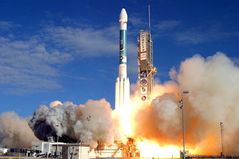 A Delta II rocket lifts off from pad 17A at Cape Canaveral Air Force Station, Fla. carrying the latest GPS IIR(M) satellite into space. The launch occurred at 3:04 p.m. EST.