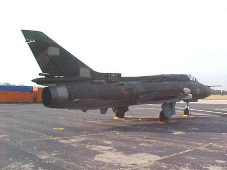 DAYTON, Ohio -- The Sukhoi SU-22MR is currently in storage at the National Museum of the United States Air Force. (U.S. Air Force photo)