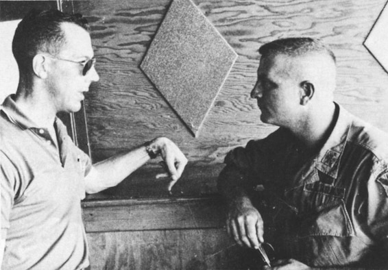 BUCKLEY AIR FORCE BASE, Colo. -- 37-year-old then Capt. Perry Jefferson (left), with Army Capt. Kent Brown, failed to return from an observation mission on April 3, 1969. Maj. Jefferson's remains were identified this year after a Vietnamese national living in California turned them over to U.S. officials, in 2001, stating that they were recovered at a site where two U.S. pilots crashed. (Photo courtesy of the Colorado Air National Guard)