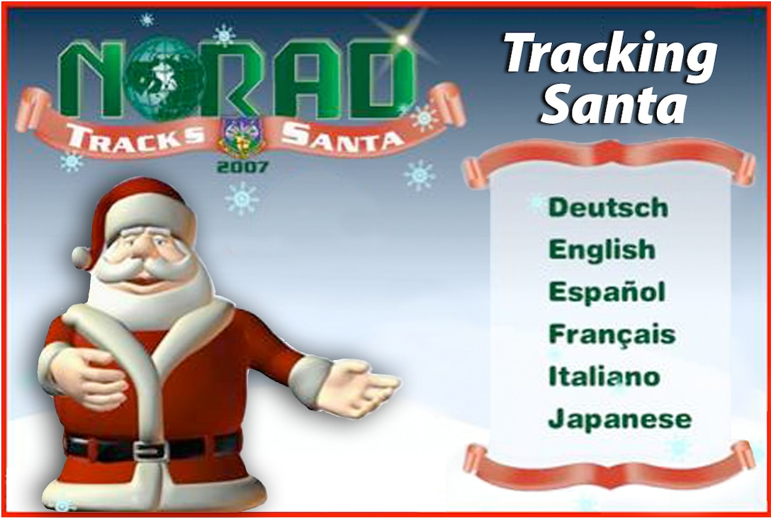 Santa's fans can track his journey around the world on Dec. 24 at North American Aerospace Defense Command's special Web site: www.noradsanta.org.  The site also features the history of NORAD Tracks Santa program, has interactive games and more. (U.S. Air Force graphic)