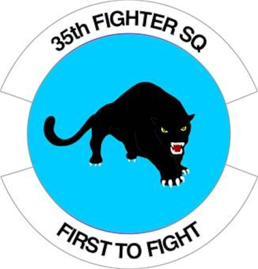 "35th Fighter Squadron ""Pantons"": Current Shield."