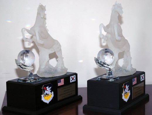 51st Fighter Wing Annual Awards trophies.