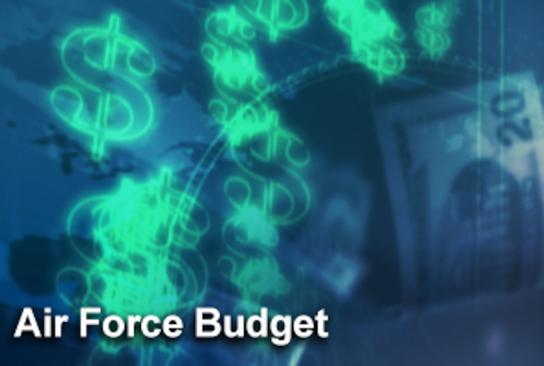 The Air Force budget is divided into three primary areas: people; readiness; and modernization and recapitalization. Air Force leaders list taking care of Airmen as one of their top three priorities, and this year, nearly a third of the budget, about $36 billion dollars, goes toward that goal. (U.S. Air Force graphic/Mike Carabajal)