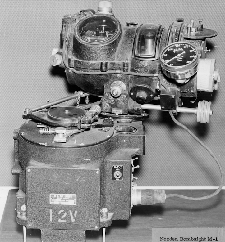 In 1932, the Army acquired the Norden M-1 bombsight. Developed for the U.S. Navy, the Norden bombsight became the U.S. Army Air Forces' premier, high-altitude bombsight in WW II. (U.S. Air Force photo)