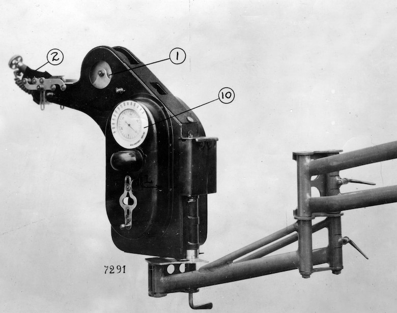 Another bombsight used by the Air Service in WW I was the French Michelin.  Probably the best bombsight of the war, it could not compensate for wind – forcing the pilot to fly directly into or against the wind. (U.S. Air Force photo)