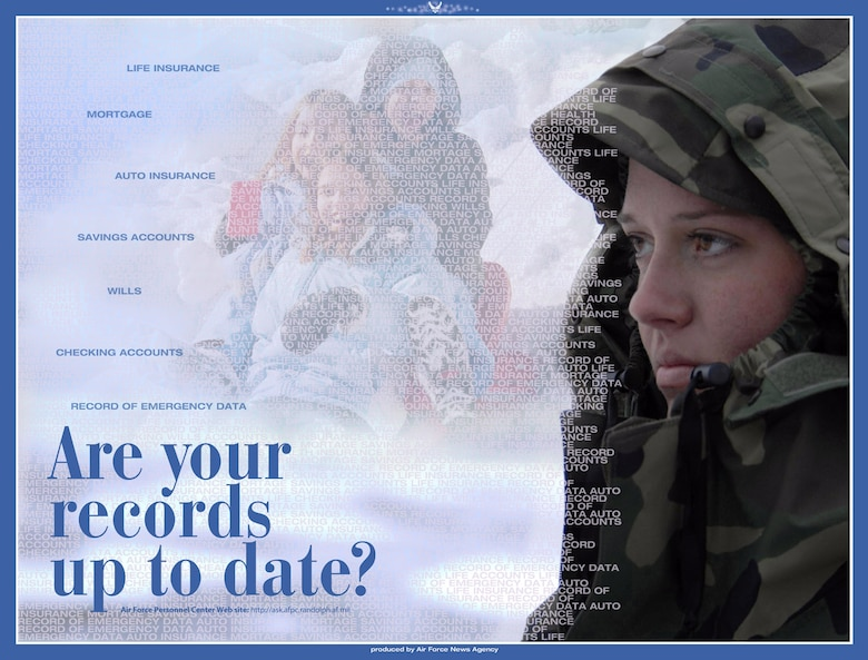 Airmen are reminded to review such items as their virtual record of emergency data, or vRed, and personal information in the Virtual Military Personnel Flight at http://ask.afpc.randolph.af.mil. (U.S. Air Force graphic)