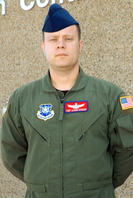 Tech. Sgt. Aaron Dickson is the mission crew chief instructor for the SBIRS training course at Schriever Air Force Base, Colo. He is assigned to the 460th Operations Group Detachment 1.