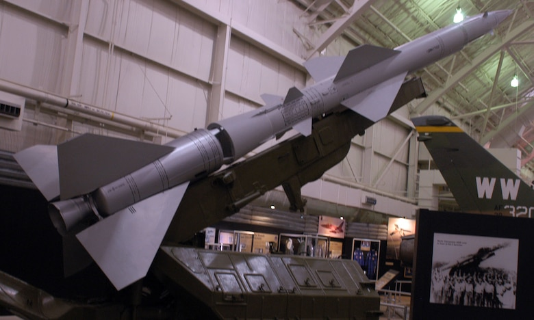 DAYTON, Ohio -- SA-2 Surface-to-Air Missile on display in the Southeast Asia War Gallery at the National Museum of the United States Air Force. (U.S. Air Force photo)