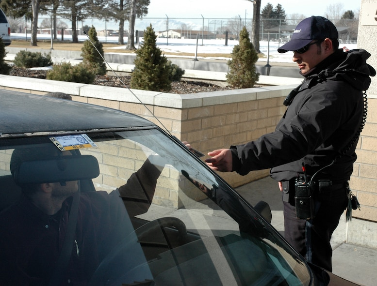 Because ID checks are required to access the base, car decals will soon be a sight of the past. Their use has been eliminated as part of an AFSO 21 initiative, saving the base millions of dollars.