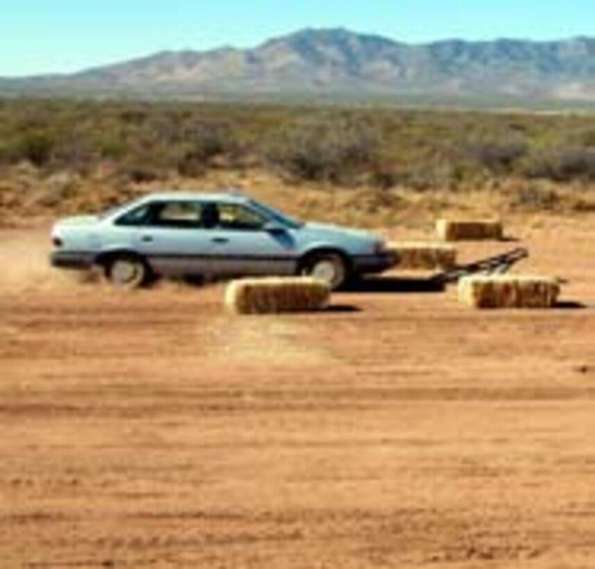 Vehicle stopper prototype test