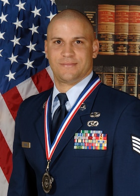 Staff Sgt. Phillip Baham,  22nd Civil Engineer Squadron  was announced Feb. 2 as the 22nd Air Refueling Wing Airman of the year. (Courtesy photo)