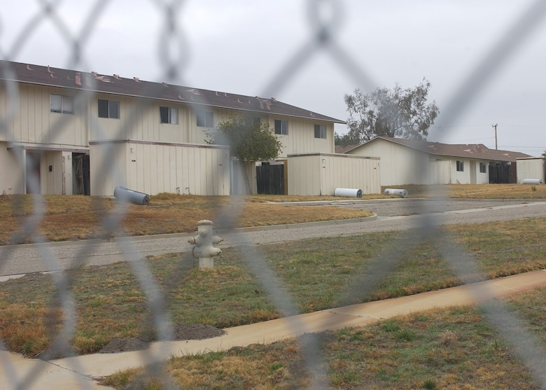 Vandenberg's East Housing units are being prepared for demolition.  633 houses have been slated for demolition due to their dilapidated condition.  The families will be moved to homes in Vandenberg's West Housing.  (U.S. Air Force photo by Airman Nathan Prost)