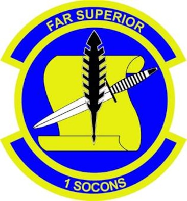 Blue represents the sky, the primary theater of Air Force operations. Yellow signifies the sun and the excellence required of Air Force personnel. The ink quill and paper scroll represent the essential tools of the contracting function; the mission of the unit. The dagger represents the support of the unit's primary customers, Air Force Special Operations Command and the 1st Special Operations Wing.
