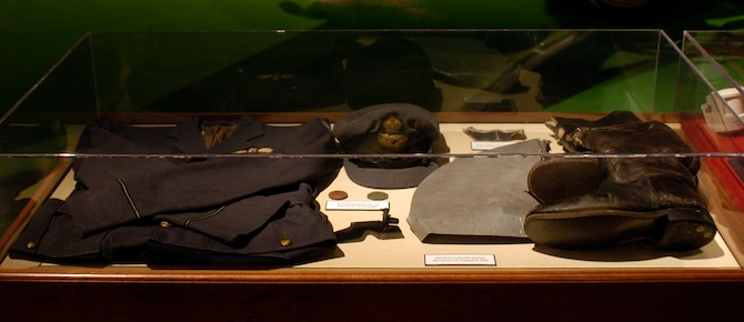 DAYTON, Ohio -- Royal Air Force uniform displayed in the Early Years Gallery at the National Museum of the U.S. Air Force. (U.S. Air Force photo)