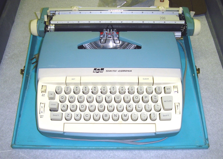 This typewriter was used by President John F. Kennedy to make changes to his speeches while on board Air Force One. (U.S. Air Force photo)