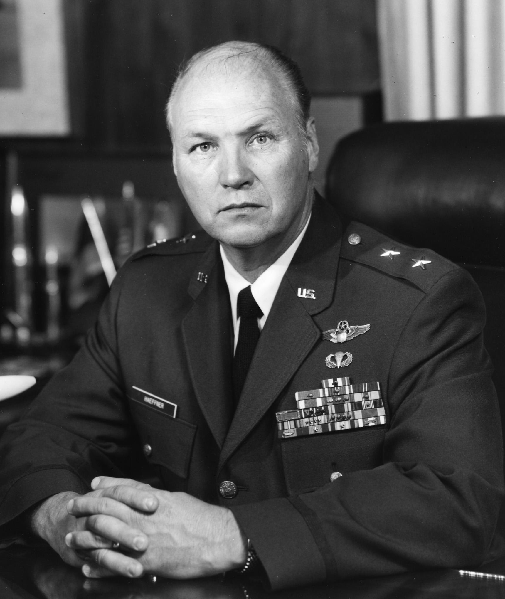 Major General Fred A Haeffner U S Air Force Biography Display