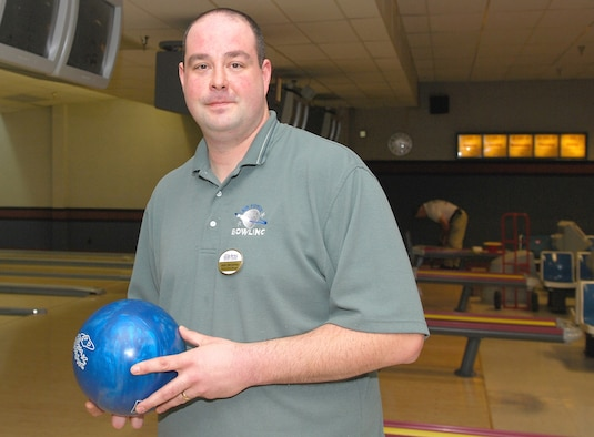 Jason M. McCathren, 92nd Services Squadron Bowling Center Manager, is this week's Team Fairchild MVP. (U.S. Air Force photo by 2nd Lt. Noel Bacnis)