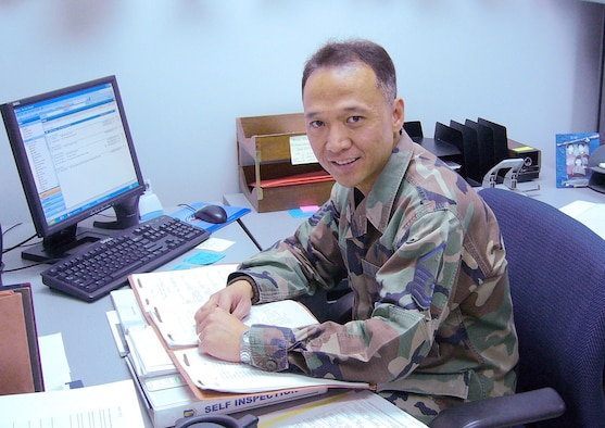 070219-- MISAWA AIR BASE, Japan -- Master Sgt. Edrick Garces, 35th Medical Support Squadron, was named Air Force Outstanding Health Management Senior NCO of the Year for 2006. (Courtesy photo)