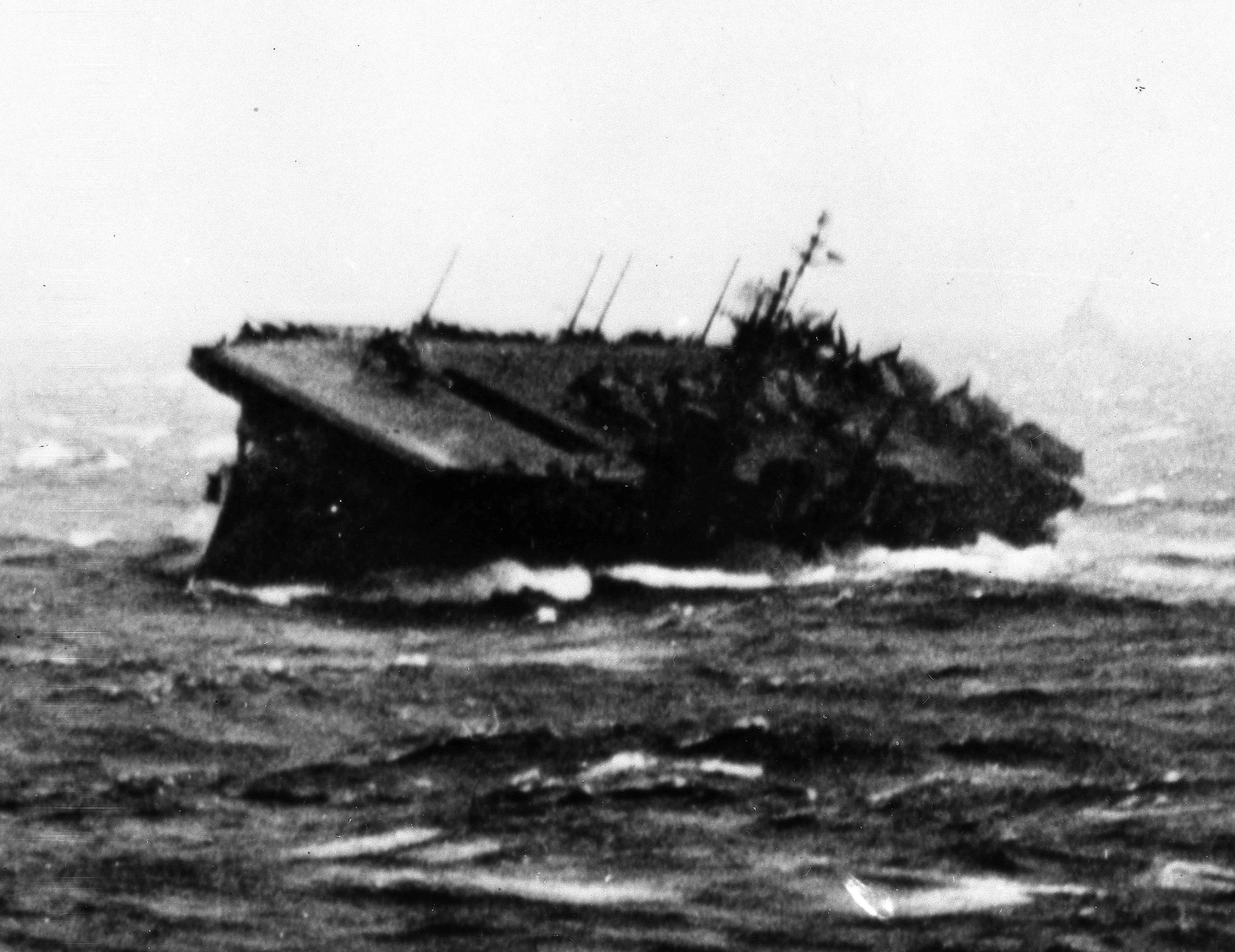 The Uss Monterey Founders During A Typhoon In December 1944 Gerald R Ford Served