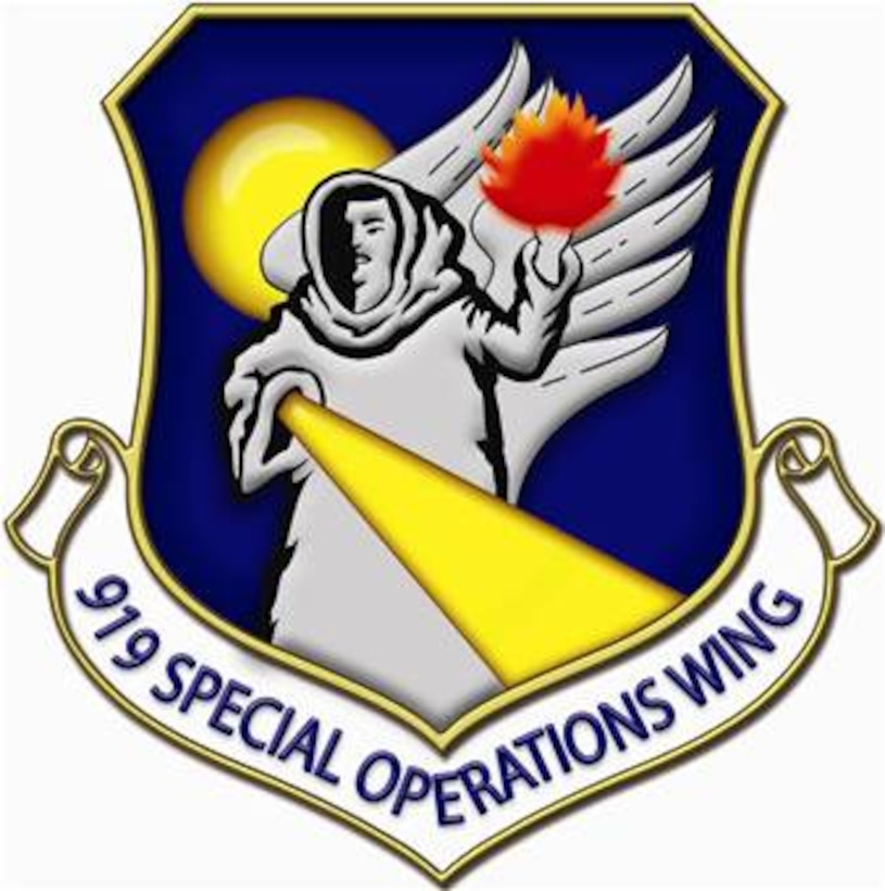 The 919th Special Operations Wing shield.