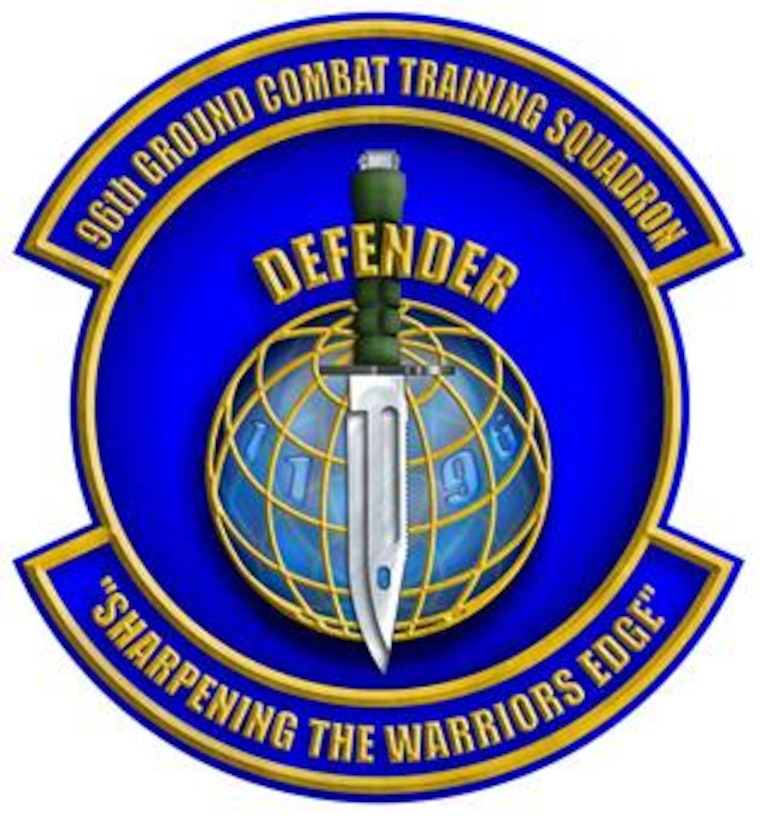 The 96th Ground Combat Training Squadron patch.