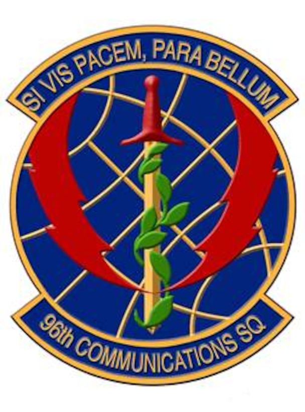 The 96th Communications Squadron patch.