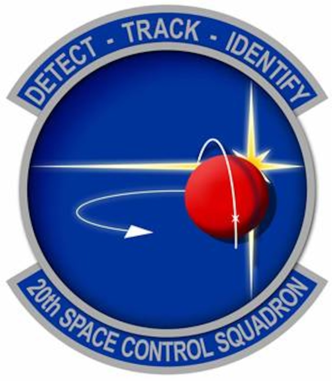 The 20th Space Control Squadron patch - detect, track, identify.