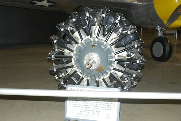 DAYTON, Ohio -- Pratt & Whitney R-985 on display in the World War II Gallery at the National Museum of the United States Air Force. (U.S. Air Force photo)